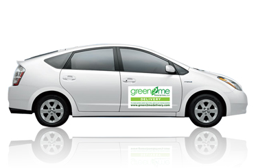 Full Color Vehicle Magnets Green Graphics And Prinitng - Custom car magnets for business